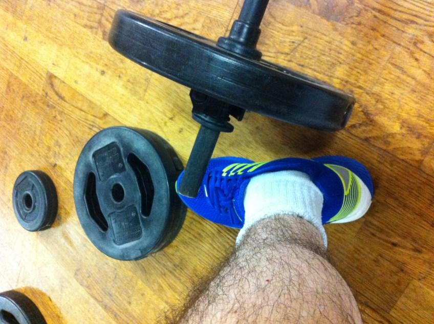 Mon matériel avant un cours de Body Pump